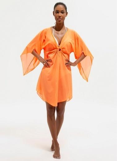 Loves You Plaj Elbisesi Oranj